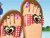 Pedicure in de zomer