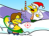 The Simpsons Snowfight